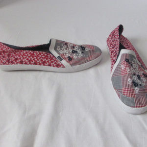 Keds Red White Blue Flowers